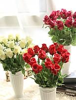 1 Филиал Полиуретан Розы Букеты на стол Искусственные Цветы