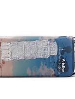 Women Checkbook Wallet Cowhide All Seasons Daily Casual Rectangle Zipper Sky Blue