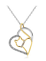 Women's Pendant Necklaces Heart Alloy Fashion Personalized Simple Style Jewelry For Wedding Party Birthday Engagement Gift Daily