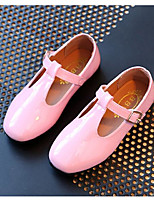 Girls' Flats Comfort Spring Fall PU Casual Blushing Pink Black Flat