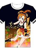 Inspired by Love Live Cosplay Anime Cosplay Costumes Cosplay T-shirt Cartoon Short Sleeve Top For Unisex