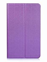 Padrão de cor sólida caso de couro com suporte para huawei mediapad t3 tablet de 8,0 polegadas