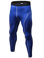 Men's Running Tights Breathability Casual Bottoms for Running/Jogging Road Cycling Exercise & Fitness Terylene Tight Ruby Gray Dark Blue