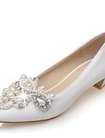 Mujer Zapatos de boda Pump Básico Zapatos para niña florista Innovador Microfibra Materiales Personalizados Primavera OtoñoBoda Fiesta y