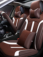 Car Seat Cushion Linen Leather Seat Cover Four General Seat Surrounded By Five Seat 2 Headrest 2 Waist By Giving The Wheel Sets Coffee