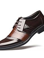 Для мужчин обувь Термопластик Осень Зима Формальная обувь Туфли на шнуровке Назначение Свадьба Для праздника Черный Коричневый