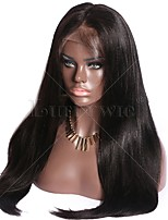 Hot Sale Peruvian Virgin Human Hair Yaki Straight Wig Glueless Deep Parting 13x6 Lace Front Wig Italian Yaki Human Hair Wig