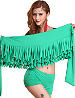 Belly Dance Hip Scarves Women's Performance Ice Silk Cascading Ruffle 2 Pieces Hip Scarf Shorts