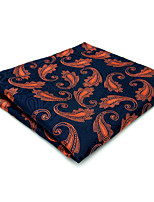 MH25 Unique Men's Pocket Square Handkerchiefs Blue Paisley 100% Silk Wedding Casual New Business