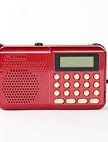 162 Rádio portátil Player MP3 Cartão TF