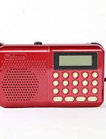 162 Radio portatil Reproductor MP3 Tarjeta TF