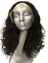 жен. Парики из искусственных волос Лента спереди Средний Кудрявые Средний коричневый Парик в афро-американском стиле Для темнокожих женщин