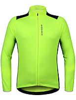 WOSAWE Maglia da ciclismo Unisex Manica lunga Bicicletta Maglietta/Maglia Asciugatura rapida Traspirabilità Elastico Tessuto sintetico
