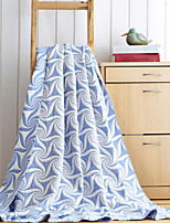 Flannel Geometric Cotton/Polyester Blankets
