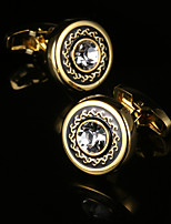 New Luxury Shirt Cufflink for Mens Gift Brand Cuff button Crystal Cuff link Gold High Quality Groom gemelos Abotoadura Jewelry
