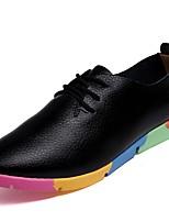 Women's Athletic Shoes Comfort Spring Fall Winter PU Casual Flat Heel White Black Orange Blue Flat