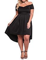 Для женщин На каждый день Офис Большие размеры Простое Прямое Оболочка Платье Однотонный,V-образный вырез Мини Выше колена Без рукавов