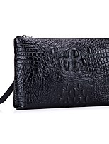 Men Bags All Seasons Cowhide Clutch with for Event/Party Formal Office & Career Black