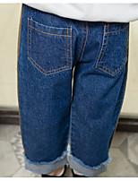 Jeans Da ragazza Tinta unita A strisce Estate