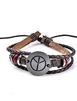 Men's Leather Bracelet Jewelry Tassel Gothic Handmade Bohemian Punk Hip-Hop Leather Circle Geometric Jewelry ForParty Graduation Daily