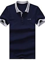 Для мужчин Спорт На каждый день Офис Лето Polo Рубашечный воротник,Простое Активный Контрастных цветов С короткими рукавами,Хлопок Нейлон,