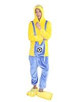 kigurumi Pyjamas Dessin-Animé Fête / Célébration Pyjamas Animale Halloween Mode Brodée Flanelle Costumes de Cosplay Kigurumi PourCouple