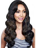 Cosplay Black To Brown Ombre Color Long Wave Africa American wigs Synthetic Ladys' Wigs