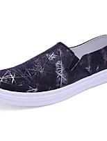 Для мужчин Мокасины и Свитер Удобная обувь Ткань Лето Осень Повседневные На плоской подошве Черный Синий Вино На плоской подошве