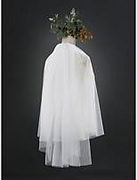 Свадебные вуали Два слоя Фата до кончиков пальцев Обрезанная кромка Тюль