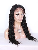 Glueless Lace Front Human Hair Wigs Unprocessed Virgin Brazilian Hair Black Color Loose Natural Wave Lace Wig For Black Women