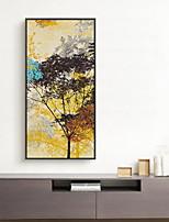абстракция Масляная картина в раме Предметы искусства,Дерево материал с рамкой For Украшение дома Предметы искусства в рамках Гостиная