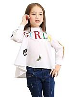 Girls' Print Embroidered Shirt,Cotton Polyester Fall Long Sleeve Regular