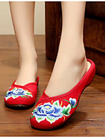 Women's Shoes Canvas Summer Comfort Slippers & Flip-Flops For Casual Red Blue