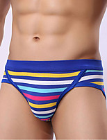 Men's Push-Up Striped Briefs  Underwear,Cotton