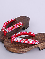Women's Clogs & Mules Clogs Spring Fall Cotton Fabric Casual Ruby Under 1in