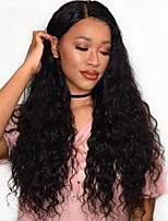 Cheap 180% Density Water Wave 360 Lace Wigs with Baby Hair Hot Brazilian 360 Lace Frontal Wigs for Black Women Virgin Human Hair Natural Hairline