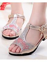 Girls' Sandals Comfort Sparkling Glitter Summer Casual Blushing Pink Silver Gold Flat