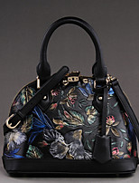 Women Bags All Seasons Cowhide Shoulder Bag with for Casual Black