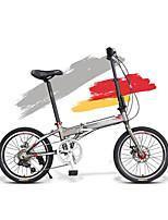 Bicicletas plegables Ciclismo 7 Velocidad 20 pulgadas Shimano Disco de Freno Sin Amortiguador Cuadro de Aleación de Aluminio Doblez