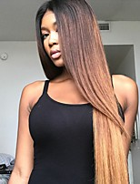 Ombre Lace Front Human Hair Wigs with Baby Hair T1B/4/27 100% Unprocessed Brazilian Virgin Hair Glueless Lace Wig for Black Woman