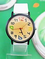Жен. Модные часы Кварцевый Кожа Группа Белый