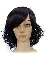 Perruques naturelles Synthétique Sans bonnet Perruques Court Noir Cheveux