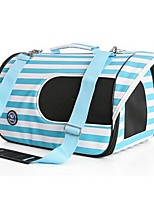 Cat Dog Carrier & Travel Backpack Pet Carrier Portable Breathable Stripe Blushing Pink Blue Ruby