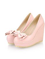Mujer Zapatos Cuero Nobuck PU Primavera Otoño Confort Tacones Para Casual Beige Azul Rosa claro