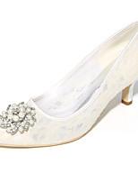 Women's Wedding Shoes Basic Pump Spring Summer Tulle Wedding Party & Evening Stiletto Heel Ivory Blushing Pink Blue Orange Black 2in-2