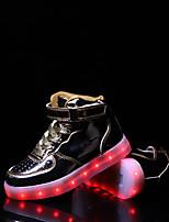 Garçon Baskets Confort Semelles Légères Chaussures Lumineuses PU de microfibre synthétique Automne Hiver Décontracté Lacet Scotch Magique