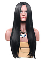 Long Black Straight Wig for Women Costume Cosplay Synthetic Wigs