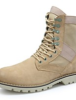 Girls' Boots Motorcycle Boots Combat Boots Fall Winter Suede Cowhide Casual Outdoor Office & Career Lace-up Flat Heel Beige Flat