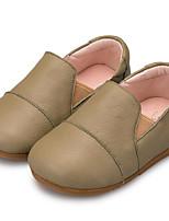 Девочки На плокой подошве Удобная обувь Обувь для малышей Весна Осень Кожа Повседневные Военно-зеленный Верблюжий На плоской подошве