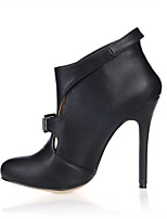 Femme Chaussures à Talons Botillons Polyuréthane Automne Habillé Soirée & Evénement Noir 10 à 12 cm